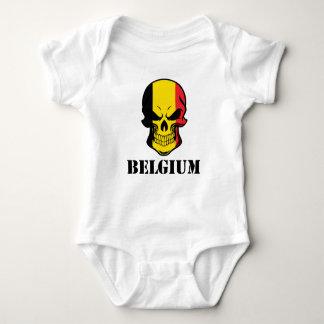 Belgian Flag Skull Belgium Baby Bodysuit