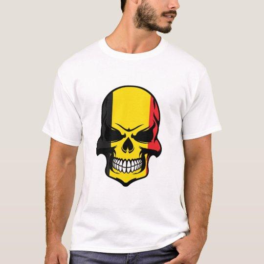 Belgian Flag Skull T-Shirt
