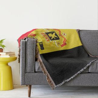 Belgian flag throw blanket