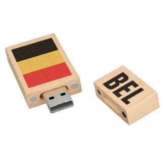 Belgian flag USB pendrive flash drive for Belgium Wood USB 2.0 Flash Drive