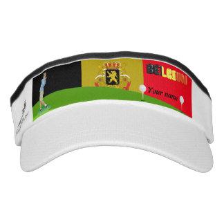 Belgian golfer visor
