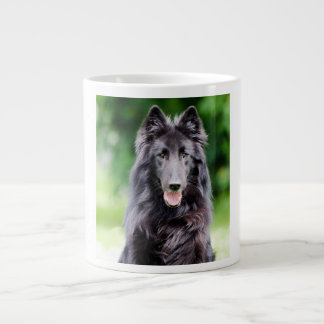 Belgian Groenendael dog, Belgian Shepherd photo Large Coffee Mug
