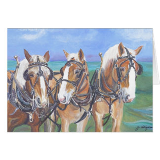 """""""Belgian Horses Card"""" Card"""