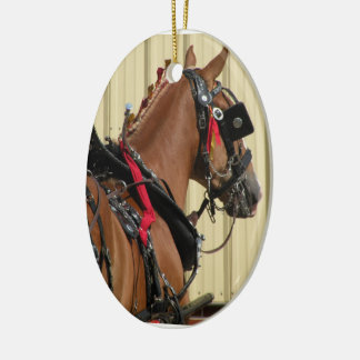 Belgian Horses in Harness - two sided Ornament