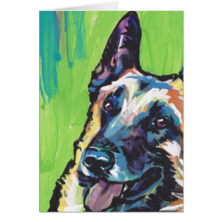 Belgian Malinois Bright Colorful Pop Dog Art Card