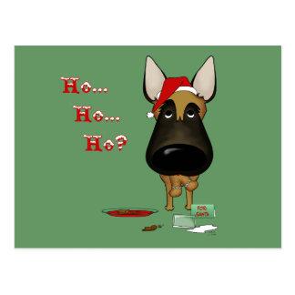 Belgian Malinois Christmas - Ho Ho Ho??? Postcard