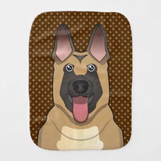 Belgian Malinois Dog Cartoon Paws Burp Cloth