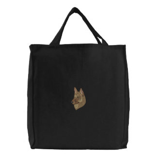 Belgian Malinois Embroidered Tote Bag