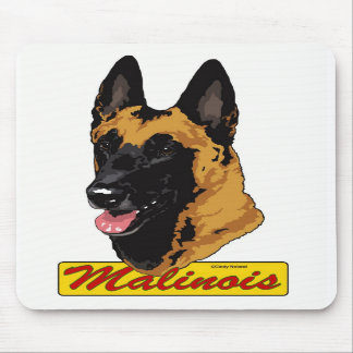 Belgian Malinois Head mousepad