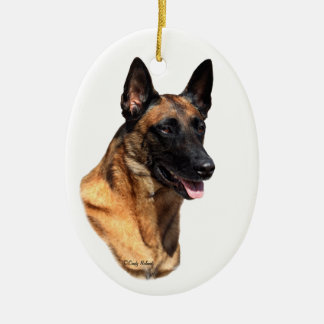 Belgian Malinois head Ornament