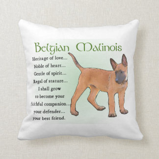 Belgian Malinois Heritage of Love Throw Pillow