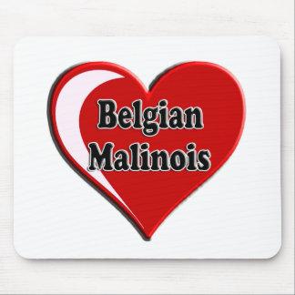 Belgian Malinois on Heart for dog lovers Mousepad