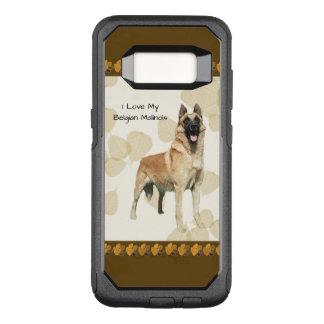 Belgian Malinois on Tan Leaves OtterBox Commuter Samsung Galaxy S8 Case
