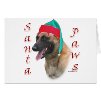 Belgian Malinois Santa Paws Card