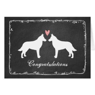 Belgian Malinois Wedding Congratulations Card
