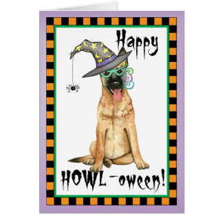 Belgian Malinois Witch Card