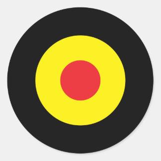 Belgian Mod Round Sticker