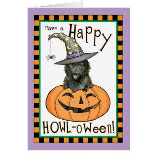 Belgian Sheepdog Halloween Card