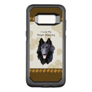 Belgian Sheepdog on Tan Leaves OtterBox Commuter Samsung Galaxy S8 Case