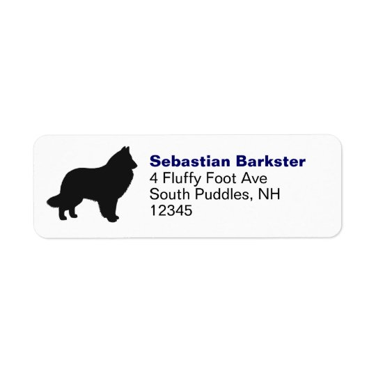 Belgian Sheepdog Silhouette Return Address Label