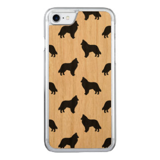 Belgian Sheepdog Silhouettes Pattern Carved iPhone 8/7 Case