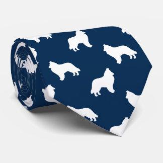 Belgian Sheepdog Silhouettes Pattern Tie