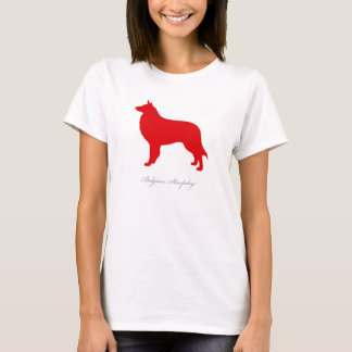 Belgian Sheepdog T-shirt (red silhouette)