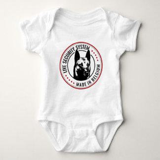 Belgian shepherd Malinois Live security System Baby Bodysuit