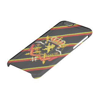 Belgian stripes flag clear iPhone 6/6S case