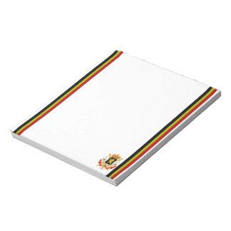 Belgian stripes flag notepad