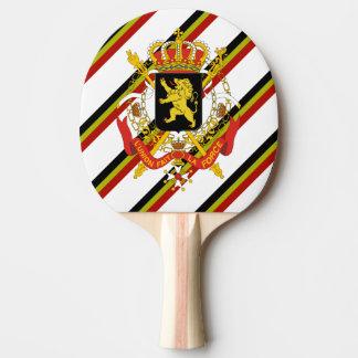 Belgian stripes flag ping pong paddle