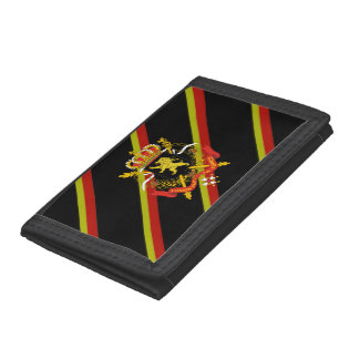 Belgian stripes flag tri-fold wallet