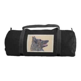 Belgian Tervuren 2 Painting - Original Dog Art Gym Bag