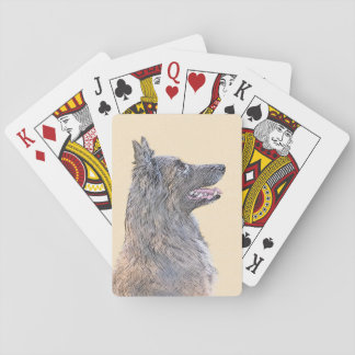 Belgian Tervuren 2 Painting - Original Dog Art Playing Cards