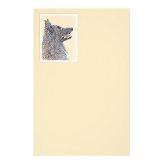Belgian Tervuren 2 Painting - Original Dog Art Stationery