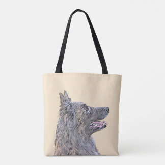Belgian Tervuren 2 Painting - Original Dog Art Tote Bag