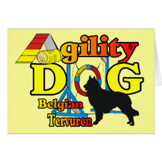 Belgian Tervuren Agility Shirts Gifts Card
