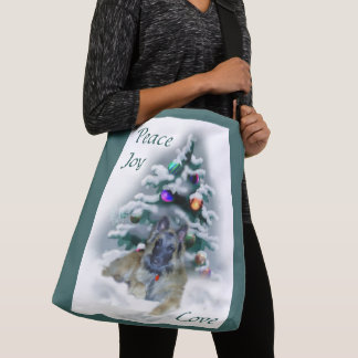 Belgian Tervuren Christmas Crossbody Bag