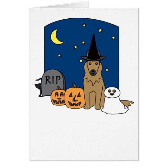 Belgian Tervuren Halloween Card