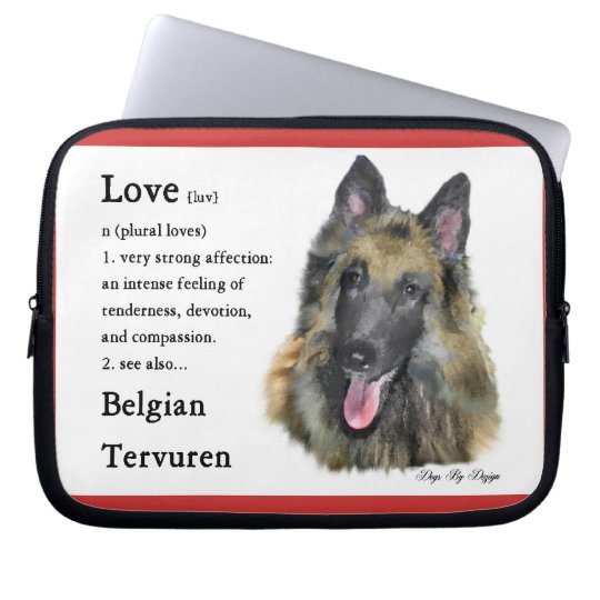 Belgian Tervuren Love Is Laptop Sleeve