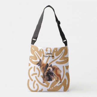 Belgian Tervuren on old gold print Crossbody Bag