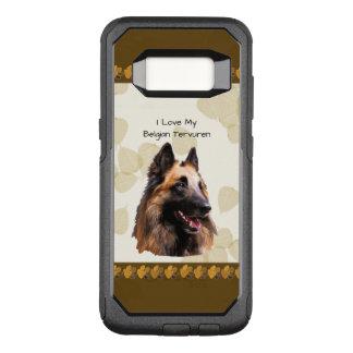 Belgian Tervuren on Tan Leaves OtterBox Commuter Samsung Galaxy S8 Case