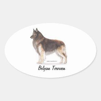 Belgian Tervuren Oval Sticker