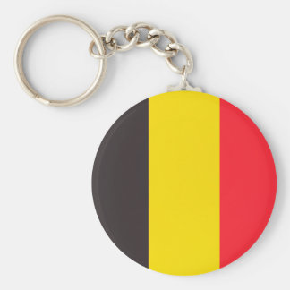 Belgian three colour of Belgium key-ring Basic Round Button Key Ring