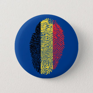 Belgian touch fingerprint flag 6 cm round badge