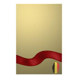 Belgian touch fingerprint flag custom stationery