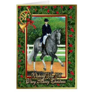 Belgian Warmblood Dressage Horse Christmas Card