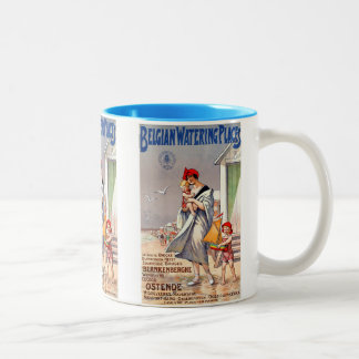 Belgian Watering Places Vintage Travel Poster Two-Tone Coffee Mug