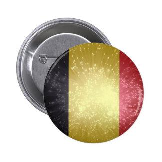 België; Belgium Flag Pinback Buttons