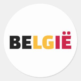 Belgie Classic Round Sticker
